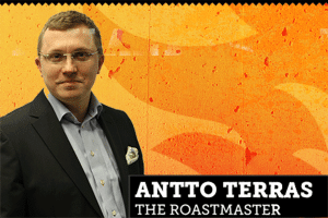 The roastmaster Antto Terras
