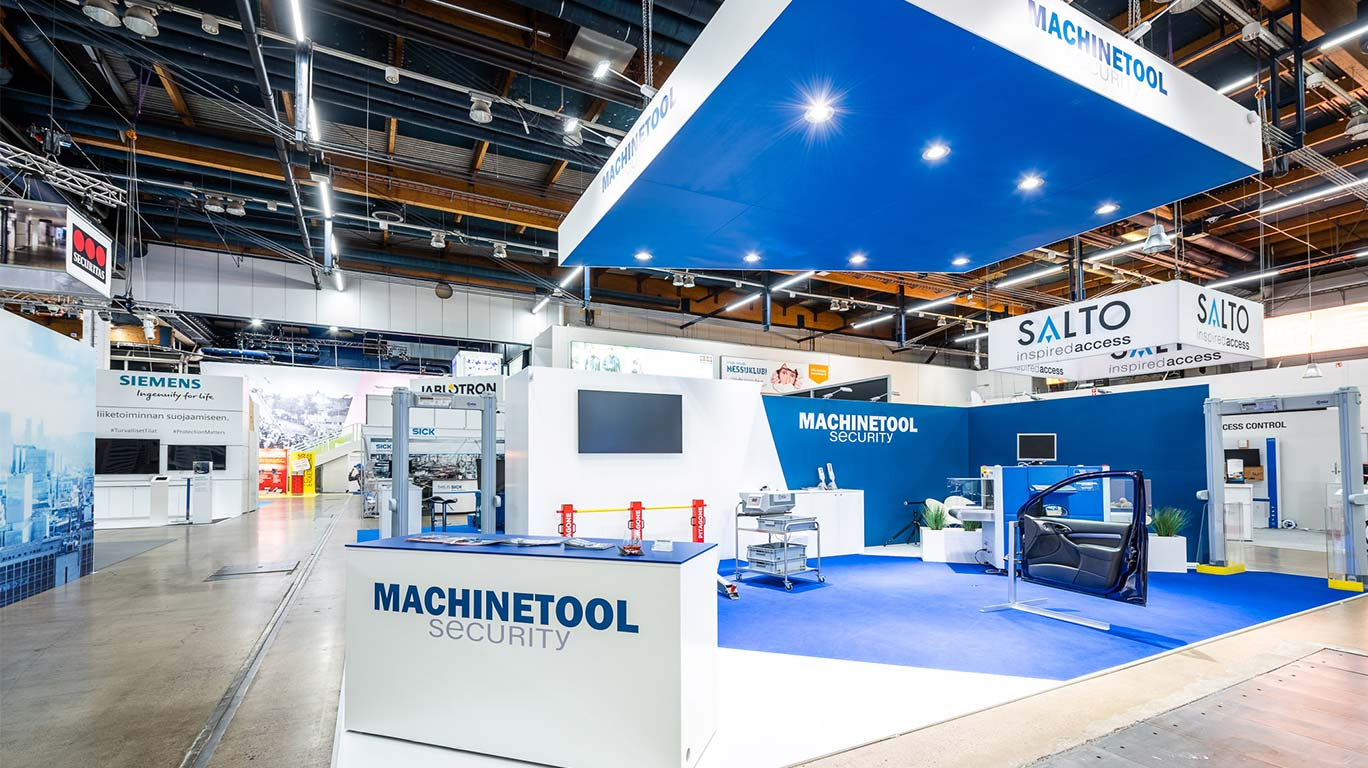 Machine Toolin osasto FinnSec-messuilla 2019